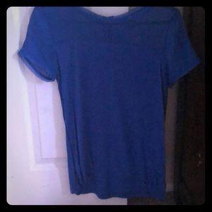 Blue H & M short sleeve Blouse